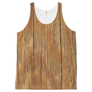 Wood Grain All-Over-Print Tank Top
