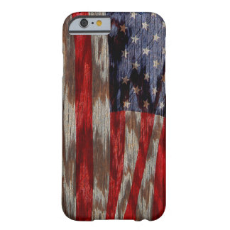 Wood grain American flag Barely There iPhone 6 Case