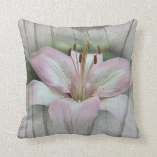 Wood Grain and Lily American MoJo Pillo Pillow