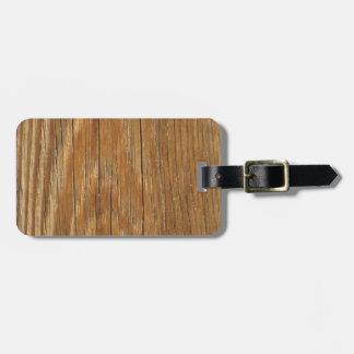 Wood Grain Bag Tag