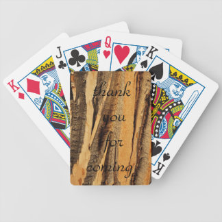 WOOD GRAIN BICYCLE PLAYING CARDS