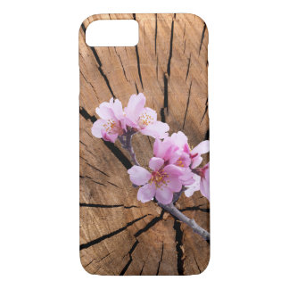 Wood Grain Blossoms iPhone 8/7 Case