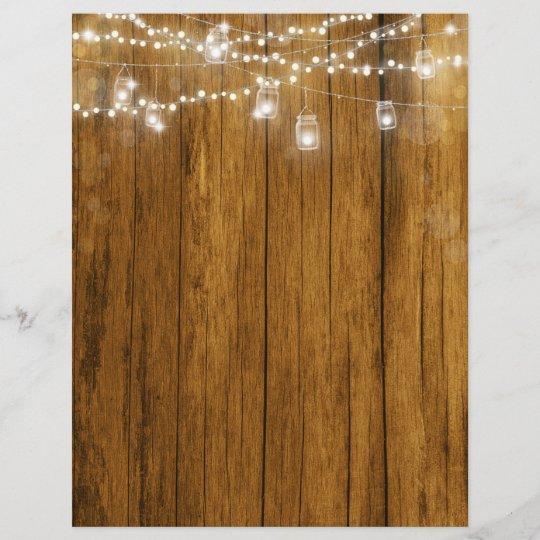 Wood Grain Bokeh Lights Scrapbook Paper
