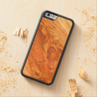 Wood Grain Carved Maple iPhone 6 Bumper Case