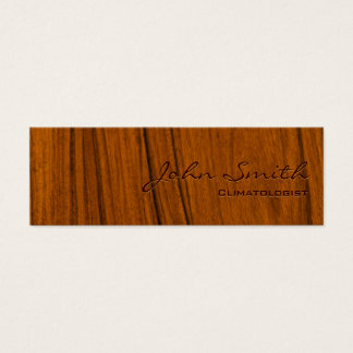 Wood Grain Climatologist Business Card