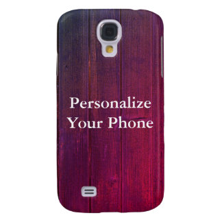 Wood Grain Colorful Samsung Galaxy S4 Cover
