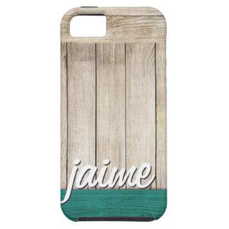 Wood Grain Custom Name iPhone Case