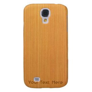 Wood Grain Customizable i Samsung Galaxy S4 Case