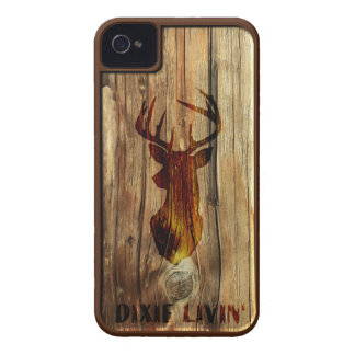 Wood-grain Deer Head by Dixie Livin' iPhone 4 Case-Mate Cases