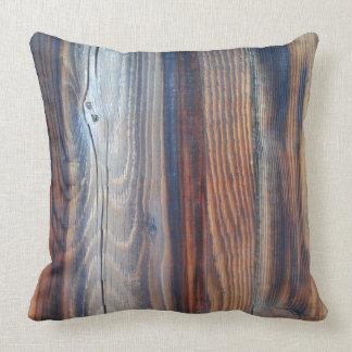Wood grain detail throw pillow