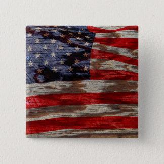 Wood grain flag button