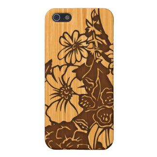 Wood Grain Floral iPhone Case