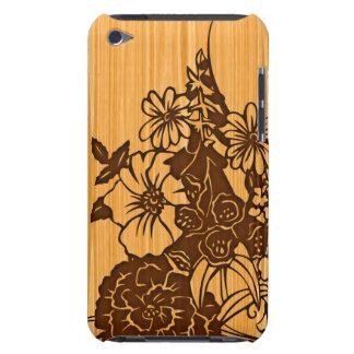 Wood Grain Floral Touch  iPod Case-Mate Case