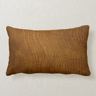 wood grain from oak tree lumbar pillow