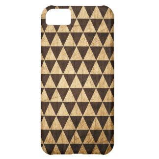 Wood Grain Geometric Tessellation iPhone Case