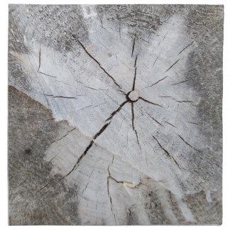 Wood Grain Gray Pine Tree Stump Photo Art 2 Napkin