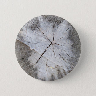 Wood Grain Gray Pine Tree Stump Photo Art 2 Pinback Button