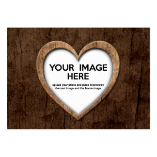 Wood Grain Heart (Personalize Before Purchase) Business Card Templates
