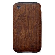 Wood Grain Iphone 3 Case at Zazzle