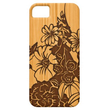 Wood Grain iPhone 5G Barely There Case-Mate