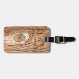 Wood Grain Knothole Luggage Tag