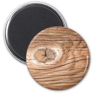Wood Grain Knothole Magnet