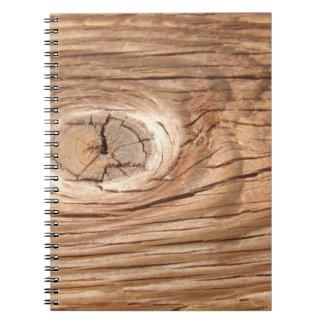 Wood Grain Knothole Notebook