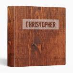 Wood Grain Look Binder Personalized