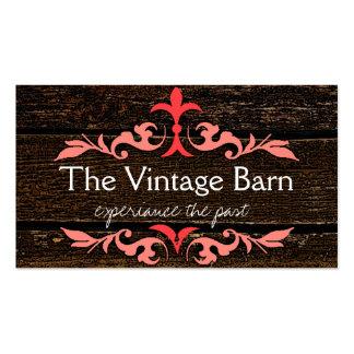 Wood Grain Look Business Card Templates
