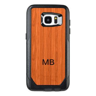 Wood Grain Look Monogram OtterBox Samsung Galaxy S7 Edge Case