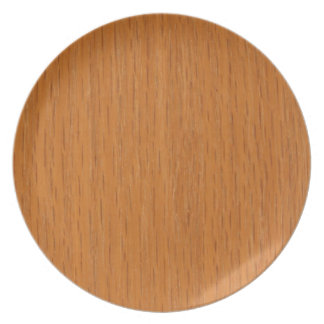 Wood Grain Melamine Plate