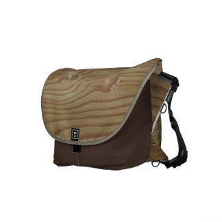 Wood Grain Messenger Bag
