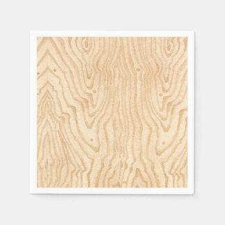 Wood Grain Paper Napkin