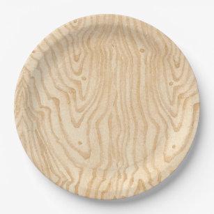 Wood Grain Paper Plate  sc 1 st  Zazzle & Wood Grain Plates | Zazzle