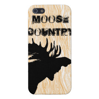 Wood Grain Pattern Moose Country iPhone Cover