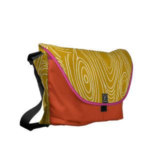Wood Grain Pattern You Choose Colors Messenger Bags