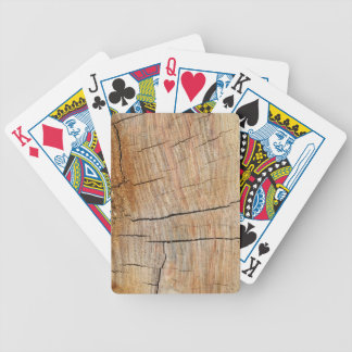 Wood Grain Photo Earthy Green Bicycle Playing Cards