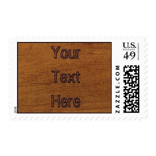 Wood Grain Postage Stamp