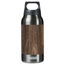 Wood Grain Print, Wood Grain Pattern, Wood Design Insulated Water Bottle