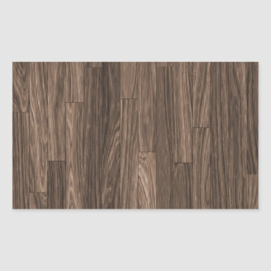 Wood Grain Print, Wood Grain Pattern, Wood Design Rectangular Sticker