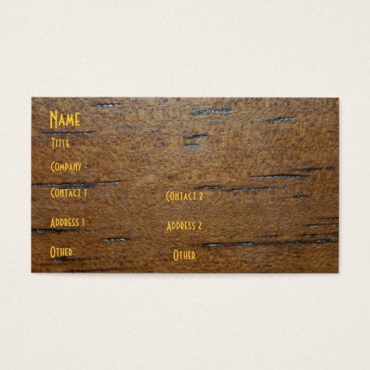 Wood Grain Profile Card