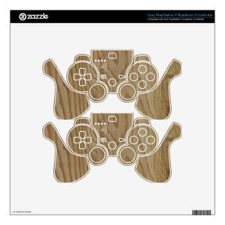 Wood Grain PS3 Controller Decals