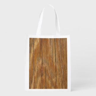 Wood Grain Reusable Grocery Bag