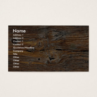 Wood grain, sheet of weathered timber business card