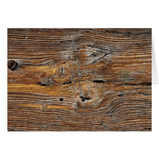 Wood grain, sheet of weathered timber card