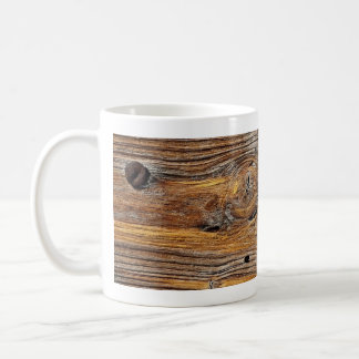 Wood grain, sheet of weathered timber coffee mug