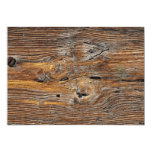 Wood grain, sheet of weathered timber 5x7 paper invitation card