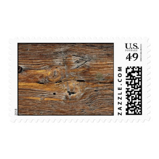 Wood grain, sheet of weathered timber postage