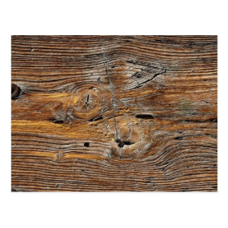 Wood grain, sheet of weathered timber postcard