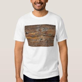 Wood grain, sheet of weathered timber shirt